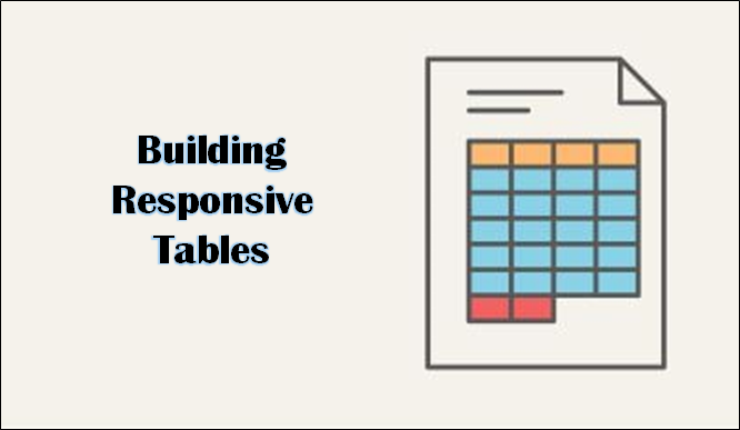 building responsive tables