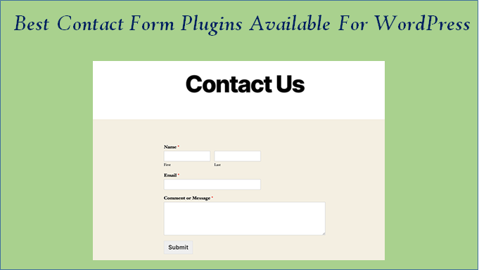 contact form plugins available for WordPress