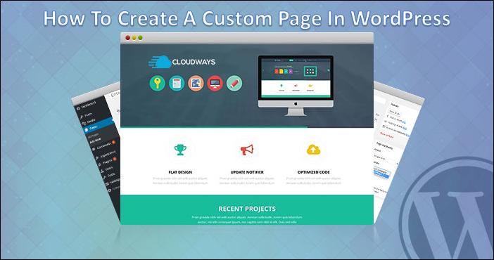 create custom page WordPress