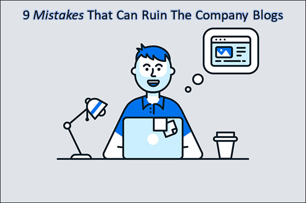 mistakes building company blog