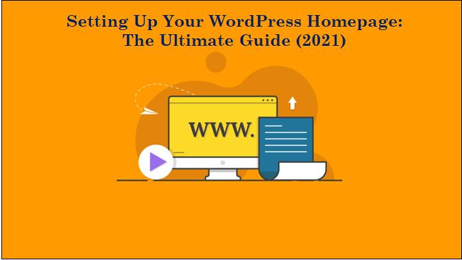 setup WordPress homepage