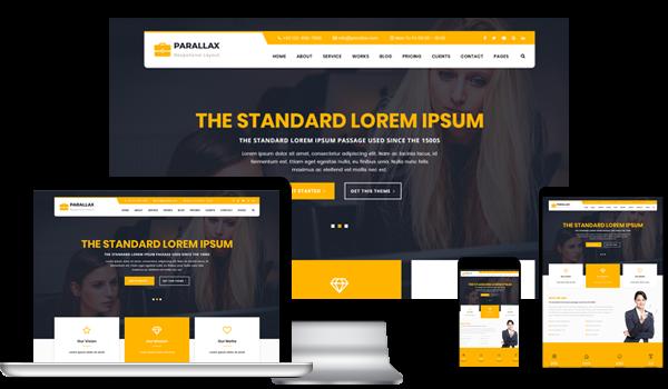 parallax WordPress template