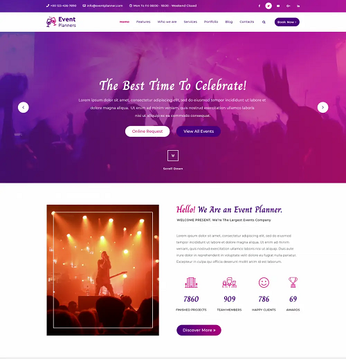 Event Planner WP themes for free
