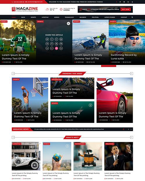 automobile WordPress template