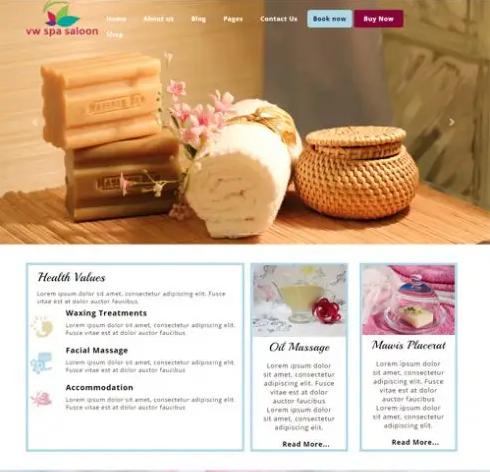 Spa WordPress template