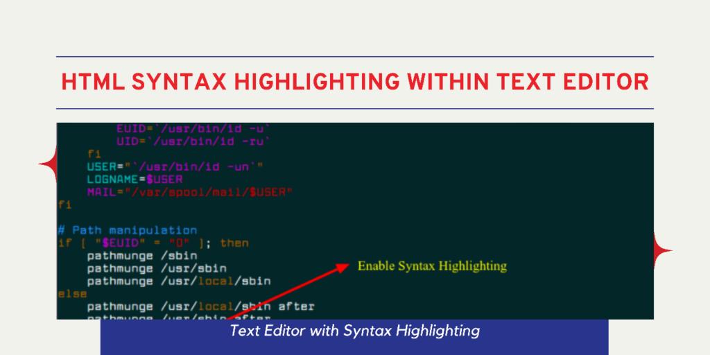 syntax highlighting text editor
